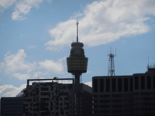 A close-up of the Sydney tower at the extreme end of the 10x focal length.