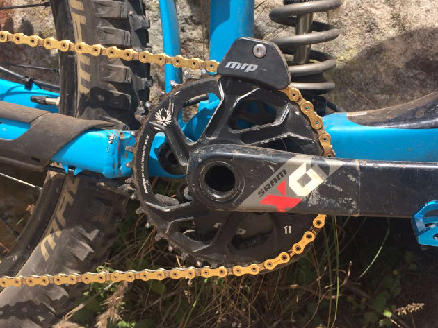 Where Josh used a 36T chainring with 11-speed, he swapped to a 38T chainring when they upgraded to SRAM Eagle. This gave him a really high top-end while still having a slightly lower climbing gear than his older setup.