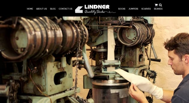 One of Lindner's multiple-needle sockmaking machines