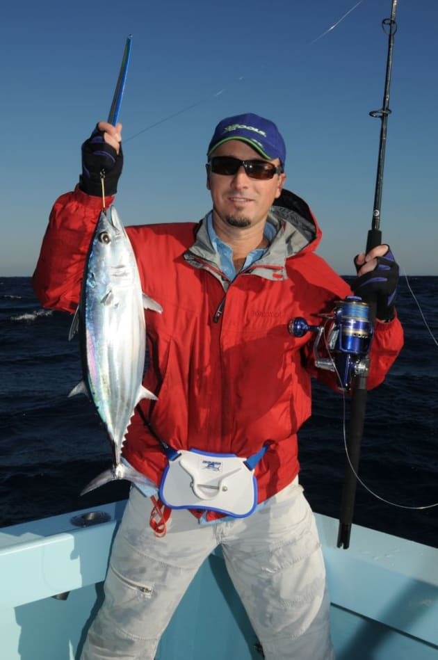 Offshore jigging outfits are often spooled with GSP lines that are depth marked to allow anglers to drop jigs to depths.