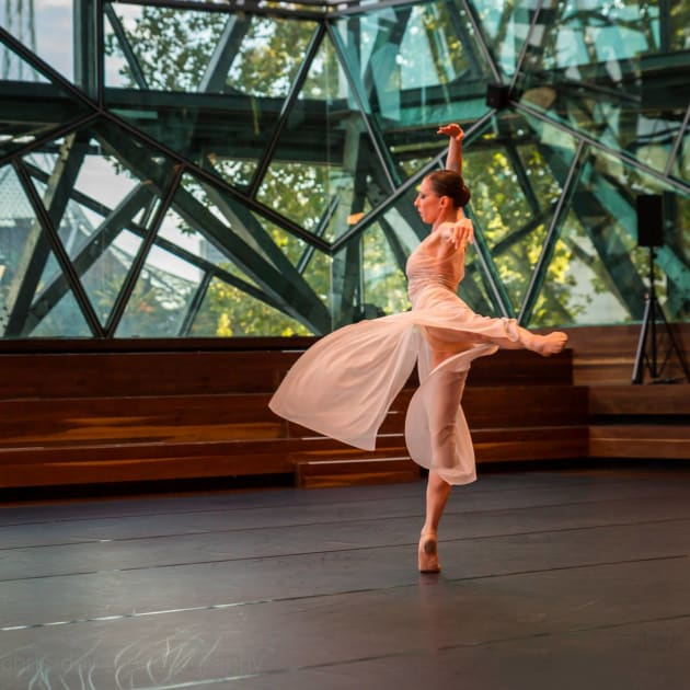 Mara Galleaza dancing Podesta's 'Alta Star' in Melbourne in January 2016. Photo: CHRIS DOWD