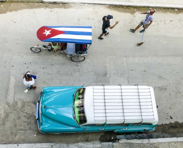 'Cuban Traffic' by Margot Hughes