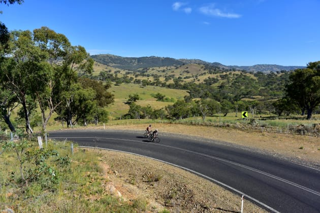 The undulating terrain to the north of Bathurst provides ample challenges for riders of all abilities.