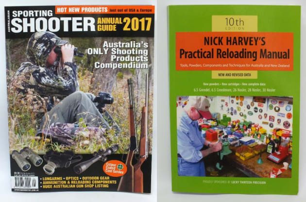Sporting Shooter Annual - left - and Nick Harvey's Reloading Manual