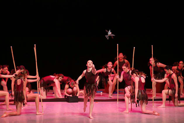 Dance Group winners Pymble Ladies' College with 'Book of One. Photo: WinkiPoP Media.