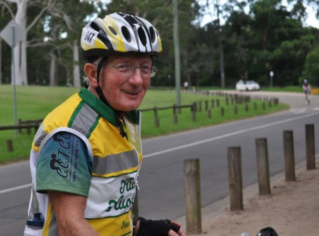 74yo endurance cyclist Paul Ardill says it's important to 'keep moving'. He certainly practices what he preaches! Image: Supplied.