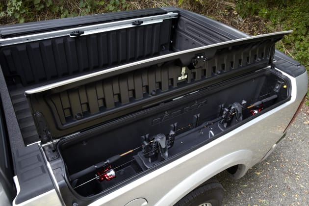 The twin Ramboxes can be used for storing rods...