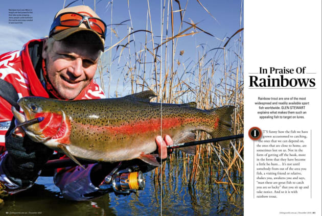 Rainbow trout are one of the most widespread and readily available sportfish worldwide. Glen Stewart explains what makes them such an appealing fish to target on lures.