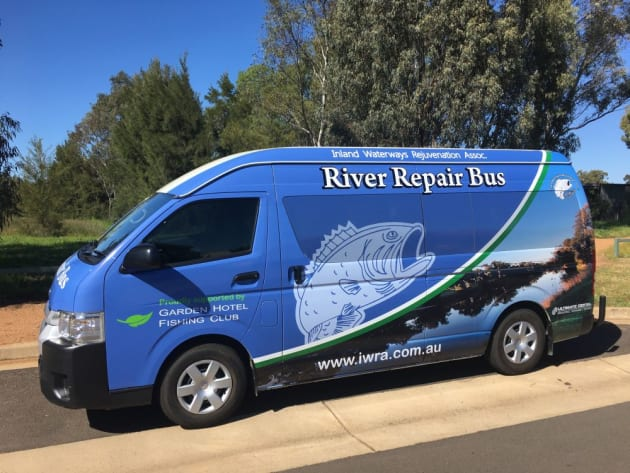 The River Repair Bus work for the dole project was largely funded through money raised at the Burrendong Classic Fishing competition.