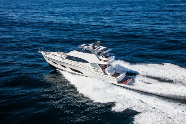 The Riviera 68 Sports Motor Yacht during trials.