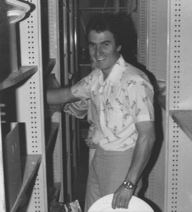 Those were the days: a young Sam Allen starting out in the marine industry in 1979.