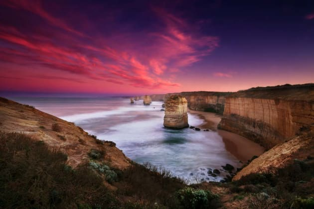 When the sky is so much brighter than your foreground, especially at sunrise and sunset, a graduated neutral-density filter (ND Grad) brings everything back into balance. In this photo of the Twelve Apostles, Victoria, a three-stop hard grad kept the sky from overpowering the exposure. Canon EOS 5D Mark III, 16-35mm f2.8L lens, 20s @ f/20, ISO 50, tripod.