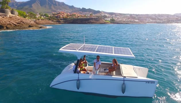 Catch a first glimpse of the Solliner solar-powered catamaran.
