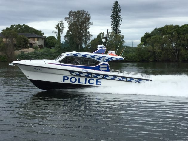 The latest Steber 38 foot NSW Water Police vessel.