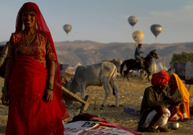 Sunset over Pushkar by Ben Cooke