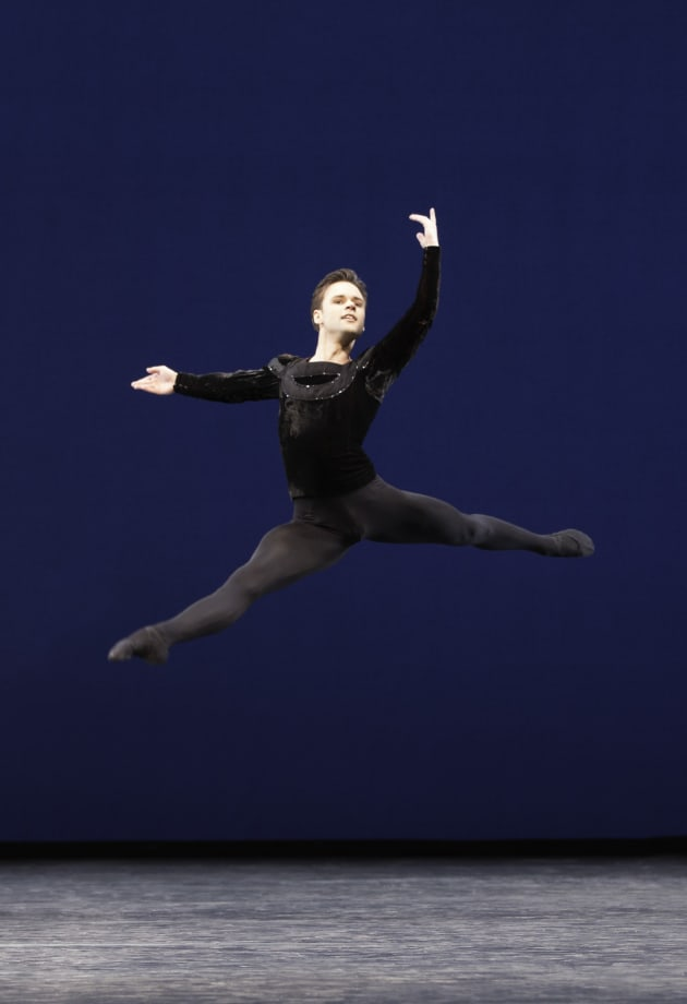 Alexander Campbell in 'Symphony in C', with the Royal Ballet. Photo:Johan Persson.