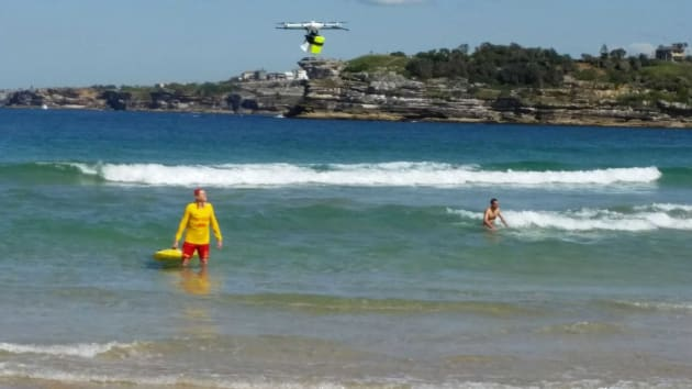 The Little Ripper swings into action at Bondi Beach.