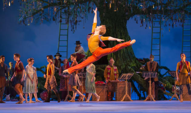 Steven McRae performing in the Royal Ballet's 'A Winter's Tale'.