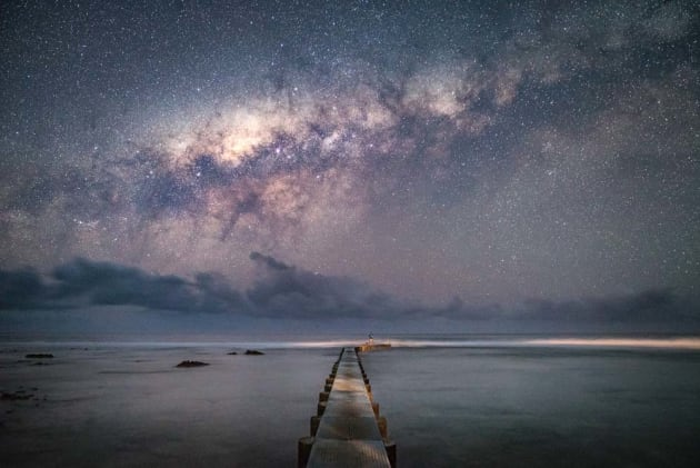On the island of Tanna, Vanuatu, we planned the best time to capture the Milky Way. We got up very early in the morning and headed down to a long jetty. A 24-70mm lens helped compress the scene making the galactic core appear larger against the structure in the foreground. Sony A7S, Sony 24-70 f/2.8 GM lens, 15s @ f/2.8, ISO 8000, tripod.