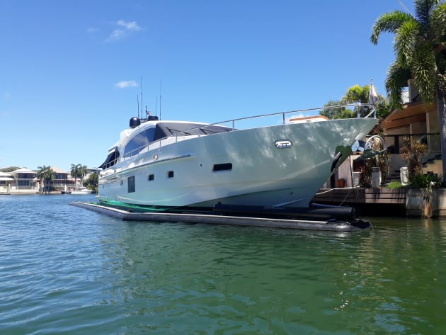 Ray David's Whitehaven 7500 in its SeaPen in Darwin.