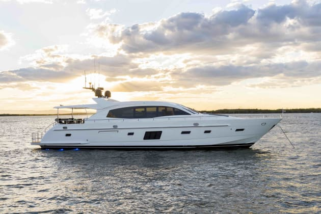 The Whitehaven Motor Yachts 7500 Sports Yacht.