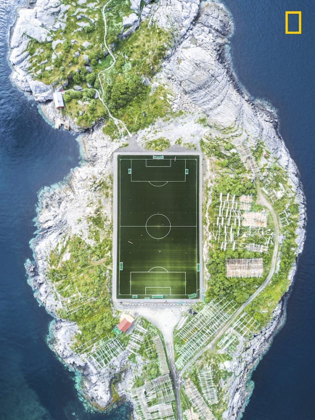 Photo and caption by Misha De-Stroyev/National Geographic Travel Photographer of the Year. 3rd Place, Cities: Henningsvær Football Field. This football field in Henningsvær in the Lofoten Islands is considered one of the most amazing fields in Europe, and maybe even in the world. The photo was taken during a 10-day sailing trip in Norway in June 2017. We arrived to Henningsvær after a week of sailing through the cold and rainy weather. Upon our arrival, the weather cleared up. I was really lucky that the conditions were suitable for flying my drone, and I managed to capture this shot from a height of 120 meters.