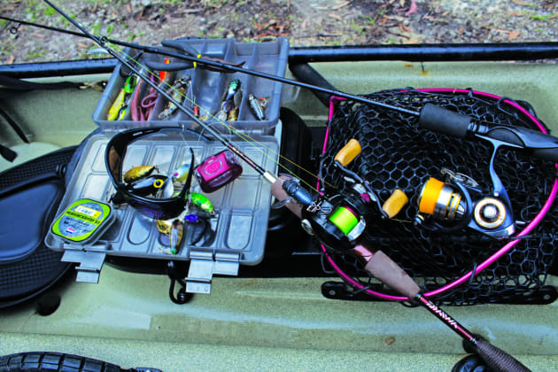 Spin and/or baitcast outfits teamed with a good selection of lures and associated terminals, leader and accessories form the basis of a bass angler's arsenal.
