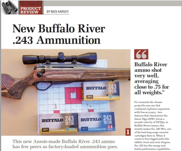 Buffalo River Review in Sporting Shooter magazine