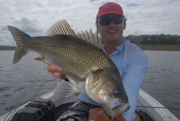 Bass are in spawning mode in winter and will often be found in big schools.