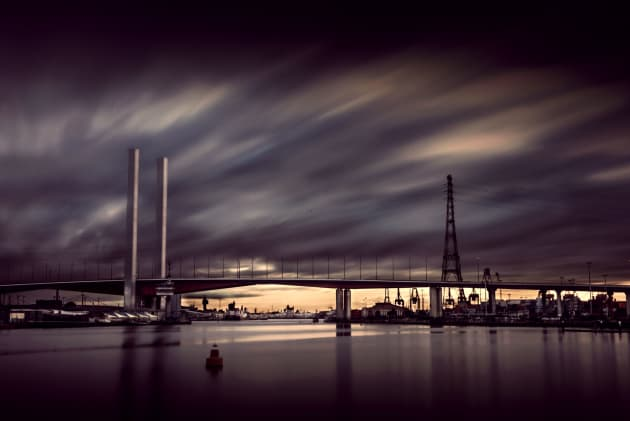 Long exposure of the Bolte Bridge.