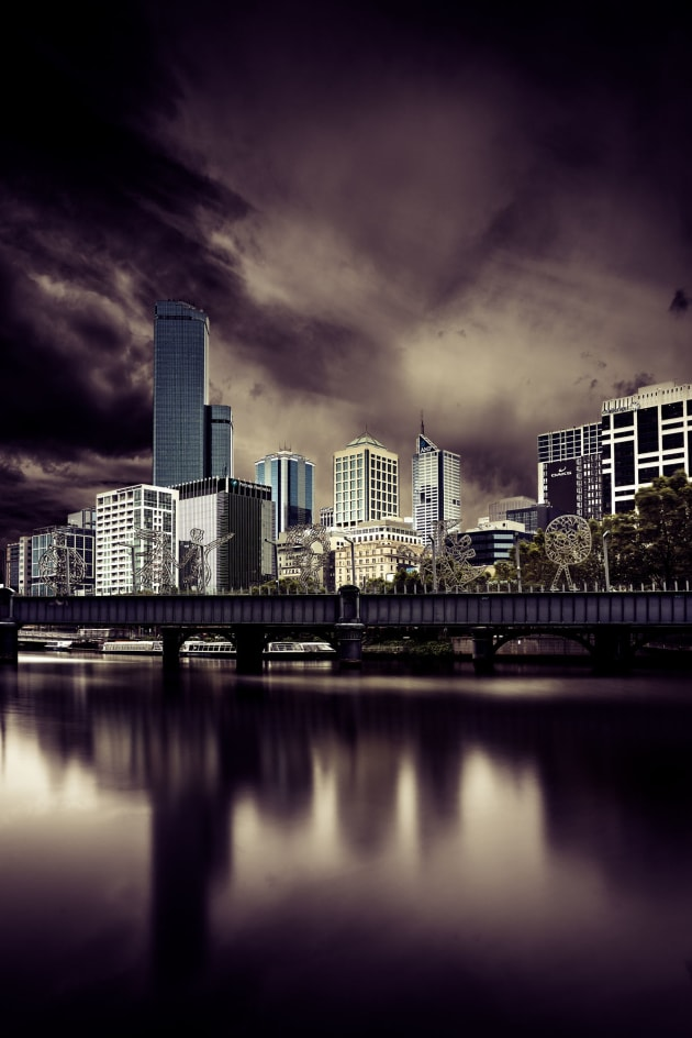 Long exposure of Melbourne City.