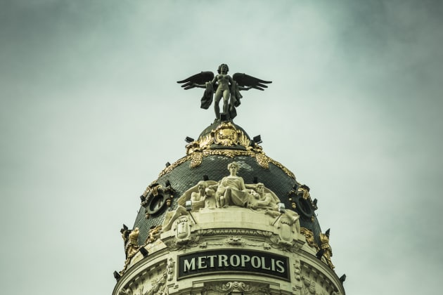 Metropolis Building on the corner of Gran Via and Calle Calao