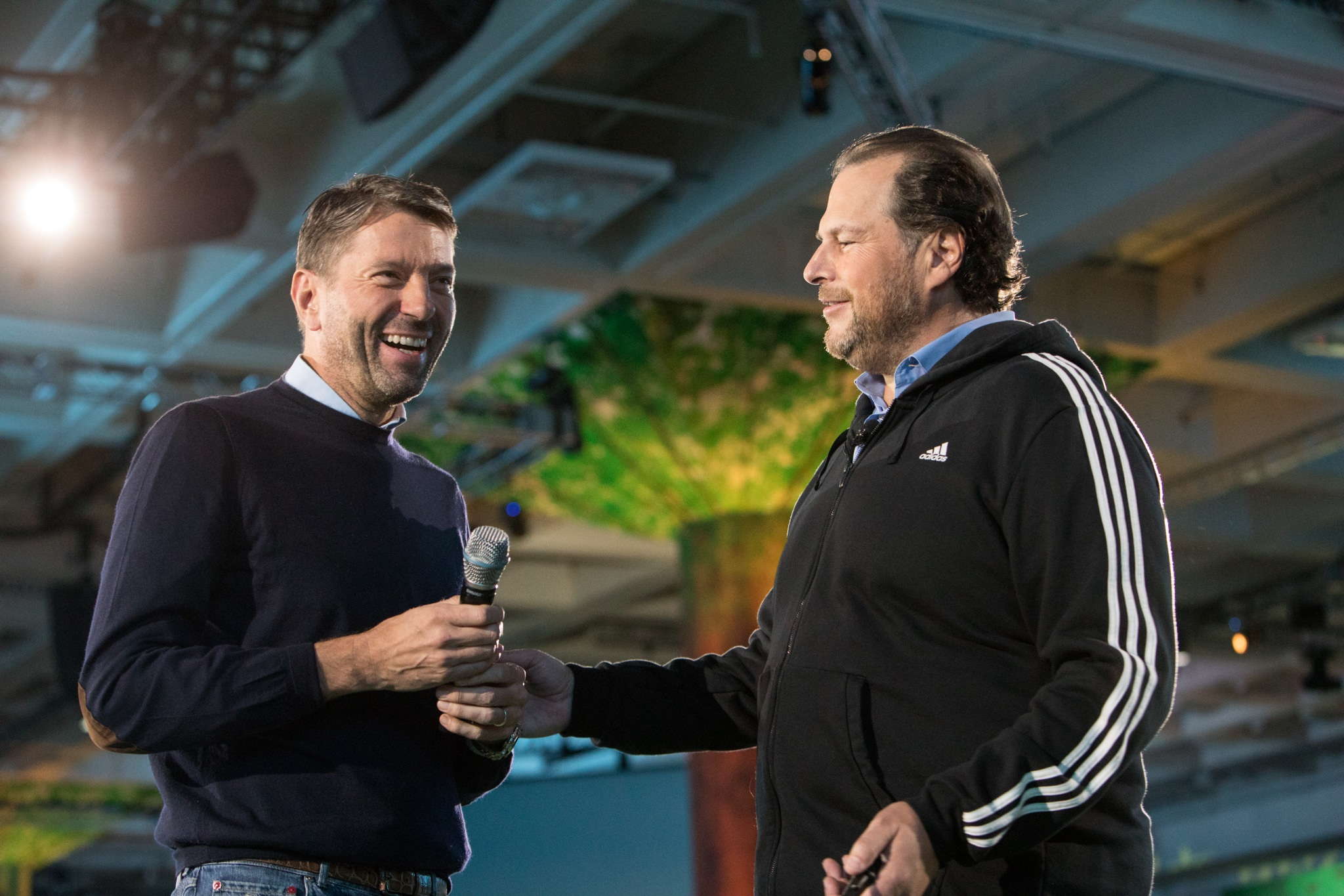 Salesforce CEO Marc Benioff & Adidas CEO Kasper Rorsted