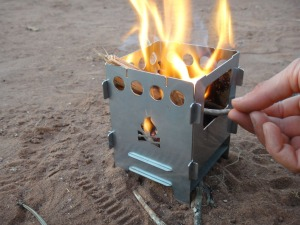 Cook up a feed on the Firebox camp stove