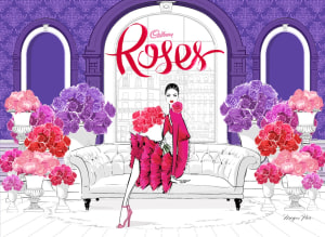 Cadbury teams with Megan Hess for Roses redesign