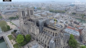 Drone footage reveals damage from Notre Dame Cathedral fire
