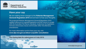 Have your say on changes to NSW Fisheries regulations