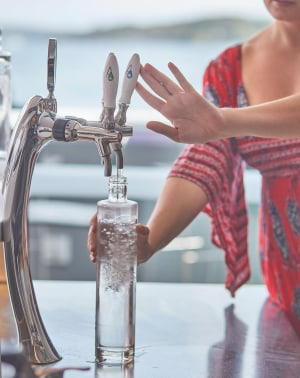 There's something in the (on-tap sparkling) water