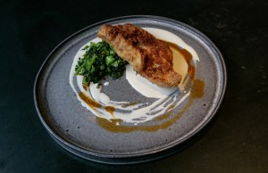 Recipe: Paul Farag and Murat Ovaz's fried blue eye with sesame and cime di rapa