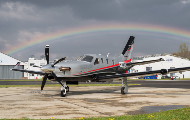 TBM 940 on the ramp at Daher in Tarbes, France. (Daher)