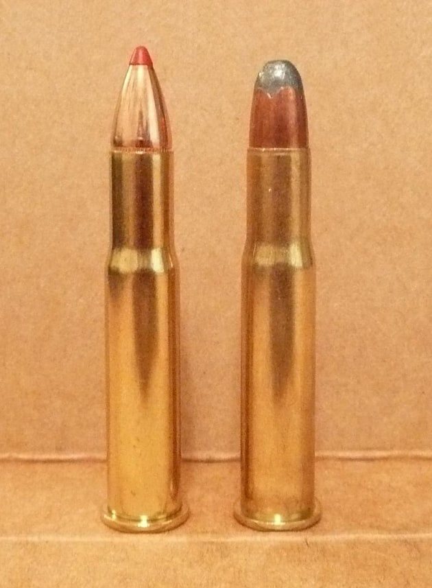 .32 Winchester Special in 165 Grain Hornady FTX (Left) and 170 Grain Remington SP (Right)