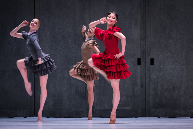 Aidan Gibson, Susanna Santoro and Ayaha Tsunaki in Carmen. Photo: Ian Whalen.