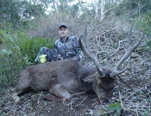 A lovely NSW coastal rusa, all the sweeter for Corey as he took it with his bow.