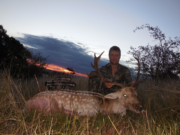 Ross with a buck taken on last light early in the trip.