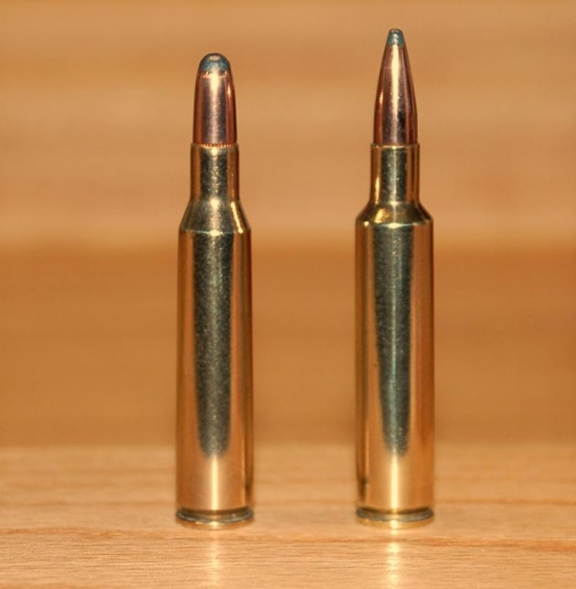 Left - .280 Remington and right - .280 Ackley Improved