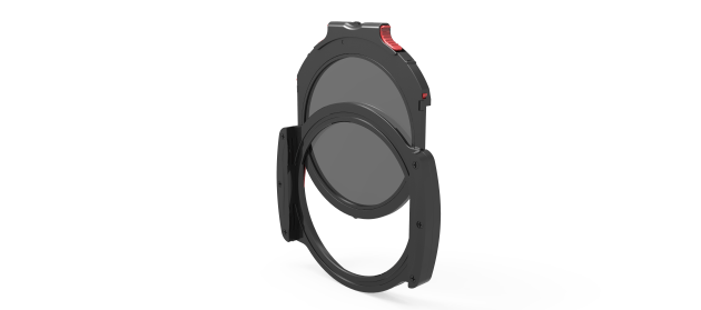 Haida's cleverly designed round filter drop-in system features red clips to ensure a snug fit and easy removal.