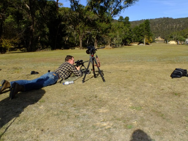 One-time sportingshooter.com.au web editor Mick Matheson had a crack, in between filming the event for OSA. Watch out for it here.
