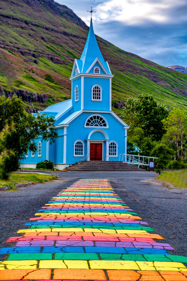 Follow the rainbow path by Michael Varecka