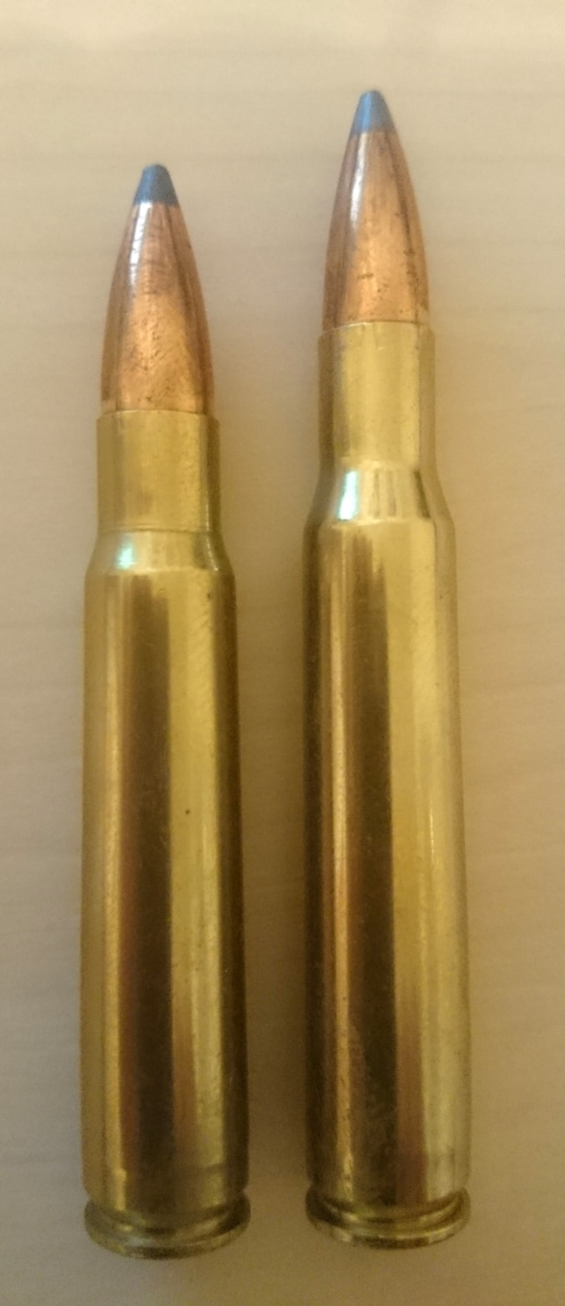 8mm & .30-06 cartridges SXS
