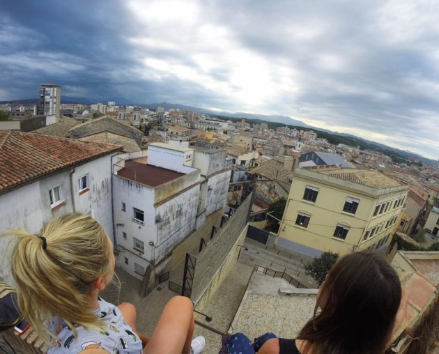 Annette Edmonson look out over her home away from home, the stunning city of Girona in northern Spain.